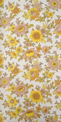 60s flower wallpaper #0912B