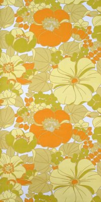 70s flower wallpaper #0822A
