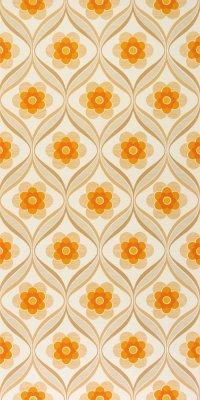 70s flower wallpaper #0804 sample