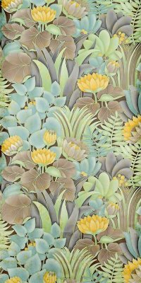 70s botanical wallpaper #0816AL