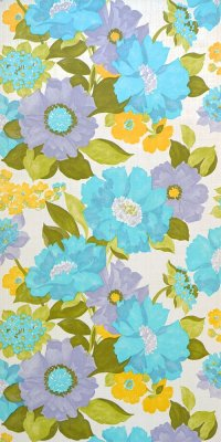 70s flower wallpaper #0818L