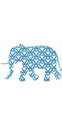 vintage wallpaper elephant t022e