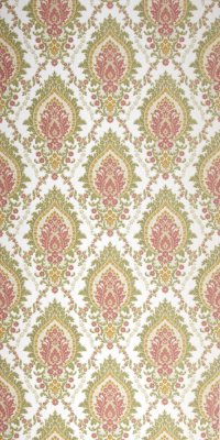 Vintage damask wallpaper #0107 sample