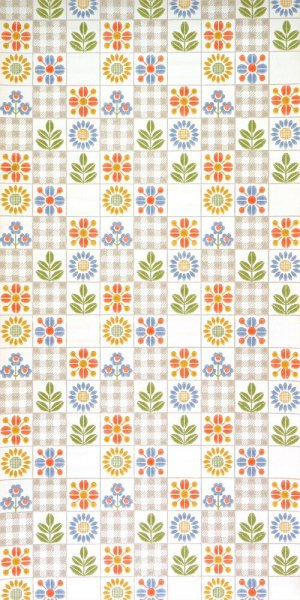 60s kitchen wallpaper #0918L