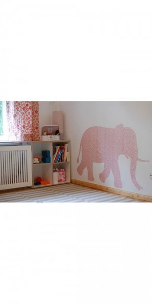 vintage wallpaper elephant t035b
