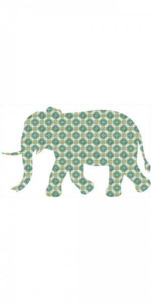 Tapetentier Elefant - Muster t039a